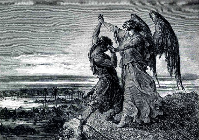 What is the meaning of Jacob wrestling with God?